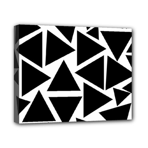 Template Black Triangle Canvas 10  X 8