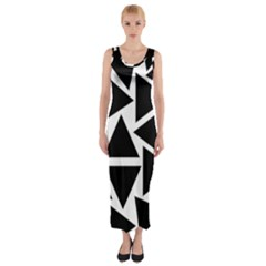Template Black Triangle Fitted Maxi Dress