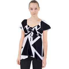 Template Black Triangle Lace Front Dolly Top