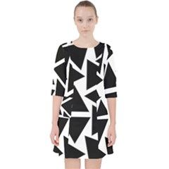 Template Black Triangle Pocket Dress