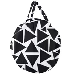 Template Black Triangle Giant Round Zipper Tote