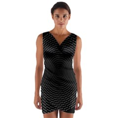 Q Tips Collage Space Wrap Front Bodycon Dress
