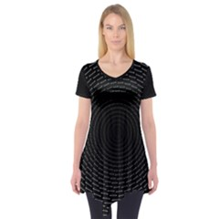 Q Tips Collage Space Short Sleeve Tunic
