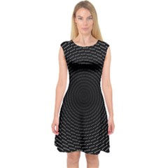 Q Tips Collage Space Capsleeve Midi Dress