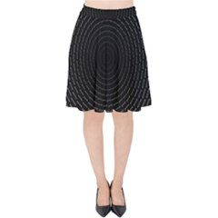 Q Tips Collage Space Velvet High Waist Skirt
