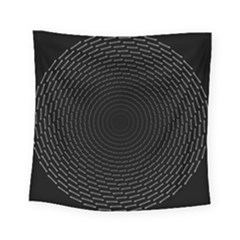 Q Tips Collage Space Square Tapestry (small)