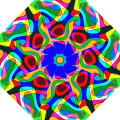 Digital Multicolor Colorful Curves Golf Umbrellas by BangZart