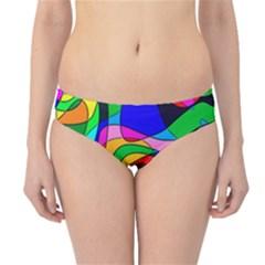 Digital Multicolor Colorful Curves Hipster Bikini Bottoms
