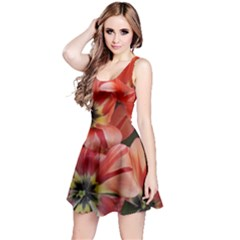 Tulips Flowers Spring Reversible Sleeveless Dress
