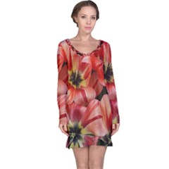 Tulips Flowers Spring Long Sleeve Nightdress by BangZart