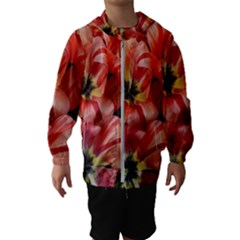 Tulips Flowers Spring Hooded Wind Breaker (kids)