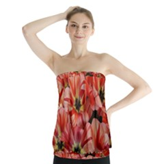 Tulips Flowers Spring Strapless Top