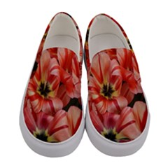 Tulips Flowers Spring Women s Canvas Slip Ons