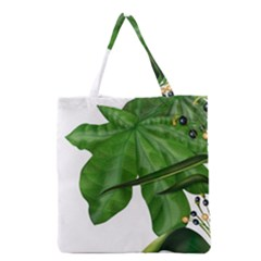 Plant Berry Leaves Green Flower Grocery Tote Bag
