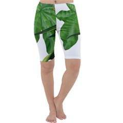 Plant Berry Leaves Green Flower Cropped Leggings