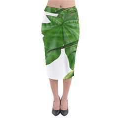 Plant Berry Leaves Green Flower Midi Pencil Skirt
