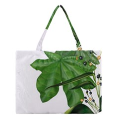 Plant Berry Leaves Green Flower Medium Tote Bag