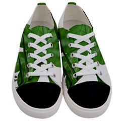 Plant Berry Leaves Green Flower Women s Low Top Canvas Sneakers