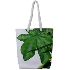 Plant Berry Leaves Green Flower Full Print Rope Handle Tote (small) by BangZart