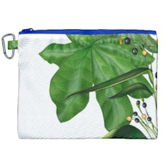 Plant Berry Leaves Green Flower Canvas Cosmetic Bag (xxl) by BangZart