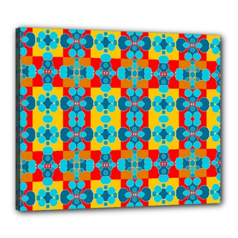 Pop Art Abstract Design Pattern Canvas 24  X 20  by BangZart