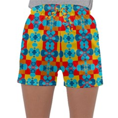 Pop Art Abstract Design Pattern Sleepwear Shorts