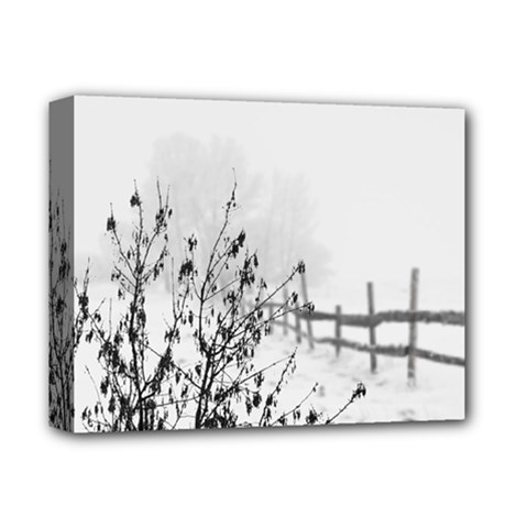 Snow Winter Cold Landscape Fence Deluxe Canvas 14  X 11  by BangZart
