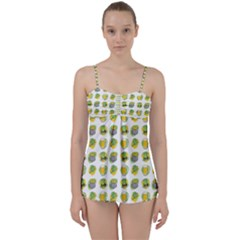 St Patrick S Day Background Symbols Babydoll Tankini Set