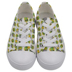 St Patrick S Day Background Symbols Kids  Low Top Canvas Sneakers