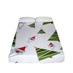 Christmas Santa Claus Decoration Fitted Sheet (full/ Double Size)