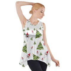 Christmas Santa Claus Decoration Side Drop Tank Tunic