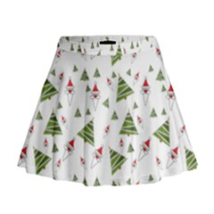 Christmas Santa Claus Decoration Mini Flare Skirt