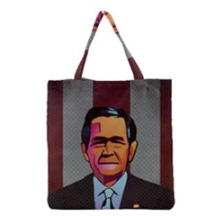 George W Bush Pop Art President Usa Grocery Tote Bag by BangZart
