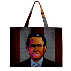 George W Bush Pop Art President Usa Zipper Mini Tote Bag