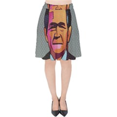 George W Bush Pop Art President Usa Velvet High Waist Skirt