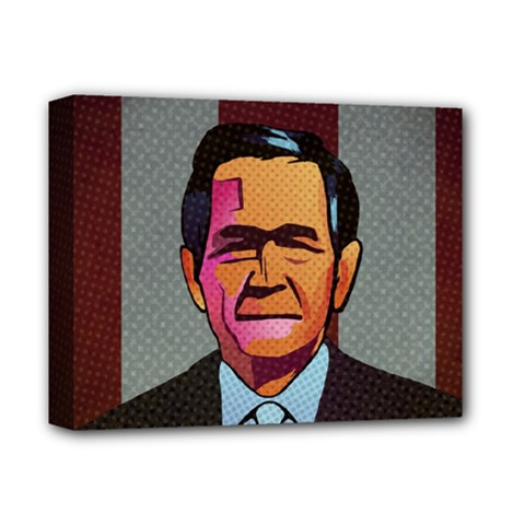 George W Bush Pop Art President Usa Deluxe Canvas 14  X 11  by BangZart