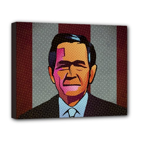 George W Bush Pop Art President Usa Deluxe Canvas 20  X 16