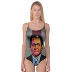 George W Bush Pop Art President Usa Camisole Leotard