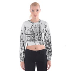 Snow Winter Cold Landscape Fence Cropped Sweatshirt