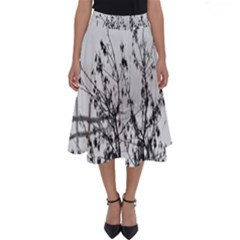 Snow Winter Cold Landscape Fence Perfect Length Midi Skirt