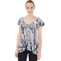 Snow Winter Cold Landscape Fence Lace Front Dolly Top