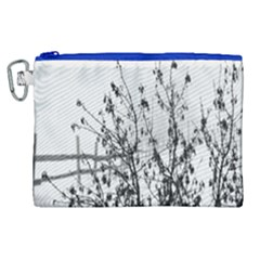 Snow Winter Cold Landscape Fence Canvas Cosmetic Bag (xl)