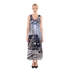 House Old Shed Decay Manufacture Sleeveless Maxi Dress