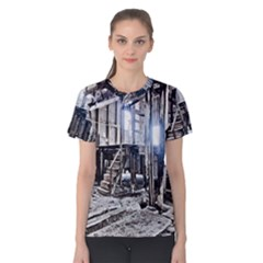 House Old Shed Decay Manufacture Women s Cotton Tee