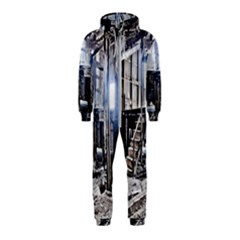 House Old Shed Decay Manufacture Hooded Jumpsuit (kids)