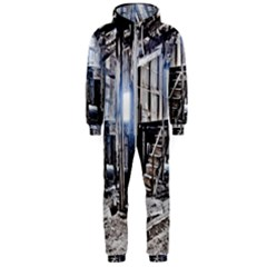 House Old Shed Decay Manufacture Hooded Jumpsuit (men)