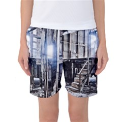 House Old Shed Decay Manufacture Women s Basketball Shorts