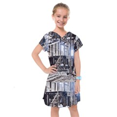House Old Shed Decay Manufacture Kids  Drop Waist Dress