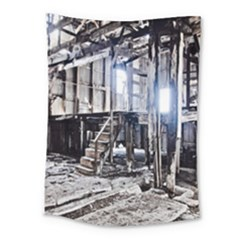 House Old Shed Decay Manufacture Medium Tapestry by BangZart