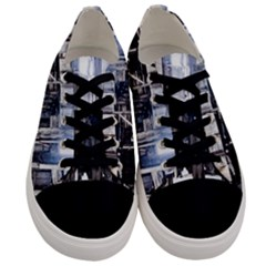 House Old Shed Decay Manufacture Men s Low Top Canvas Sneakers